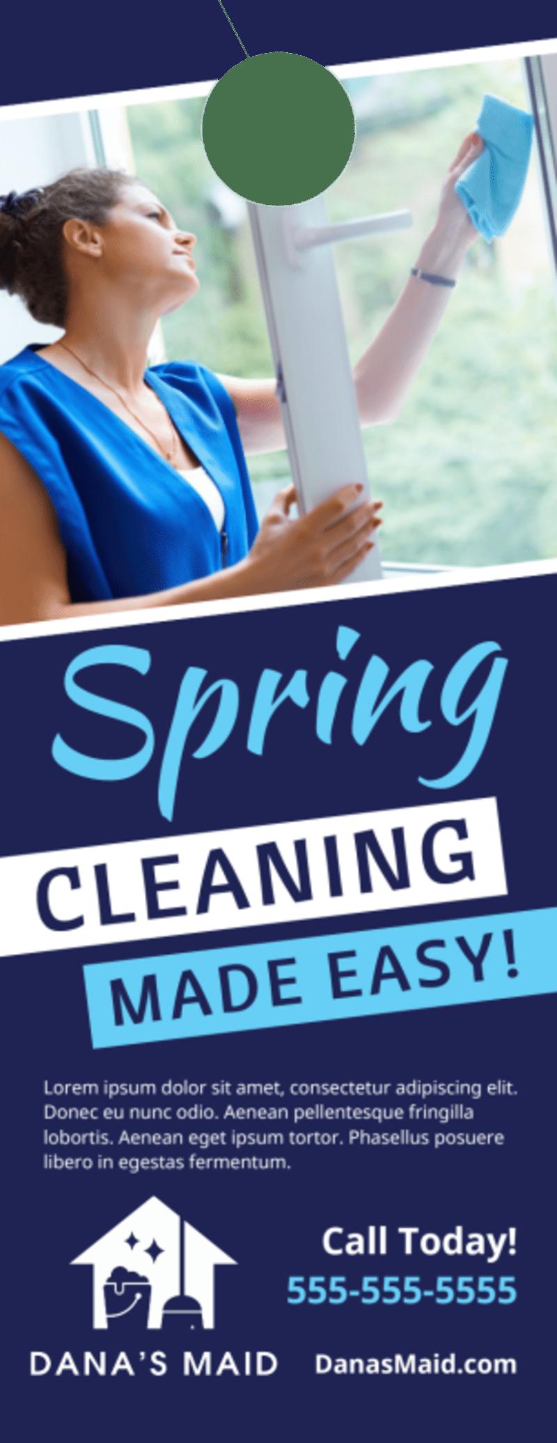 Spring Cleaning Door Hanger Template Preview 2