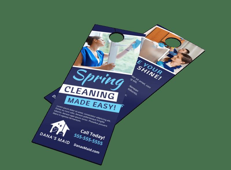 Spring Cleaning Door Hanger Template Preview 1