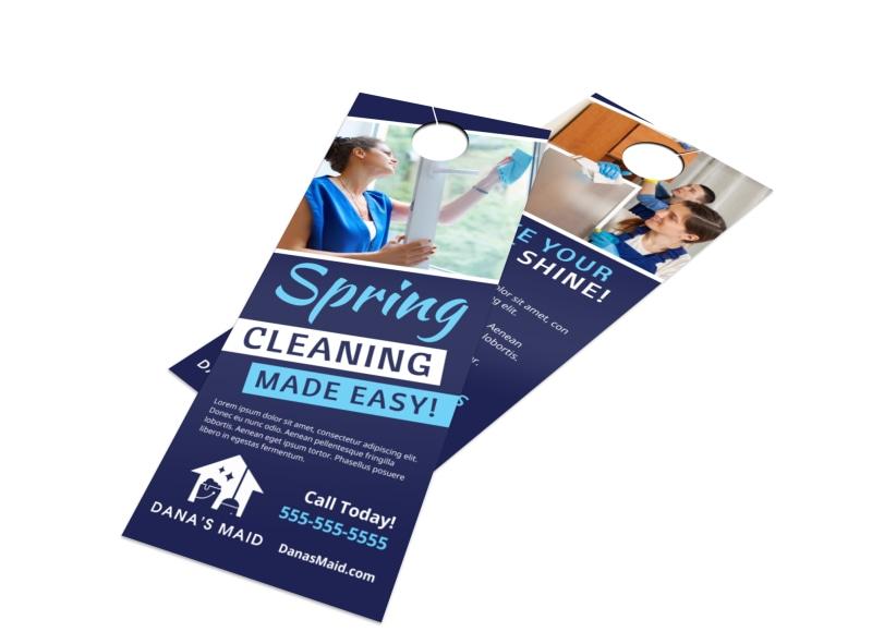 Spring Cleaning Door Hanger Template Preview 4
