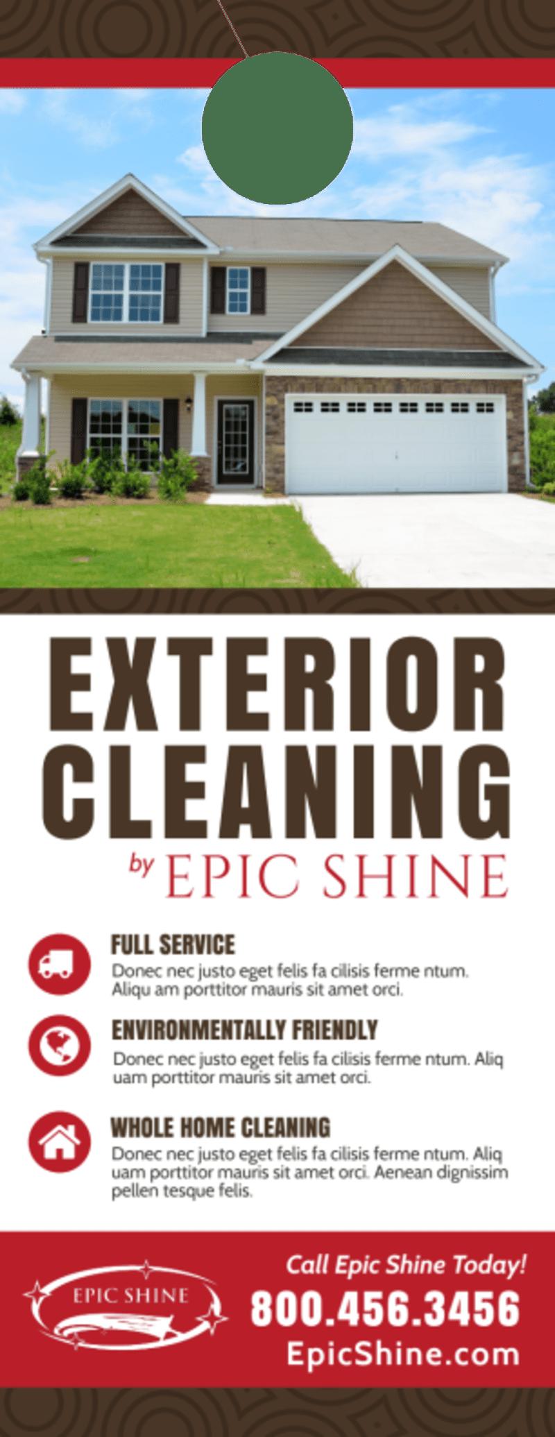 Exterior Cleaning Door Hanger Template Preview 2