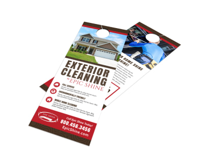 Exterior Cleaning Door Hanger Template preview