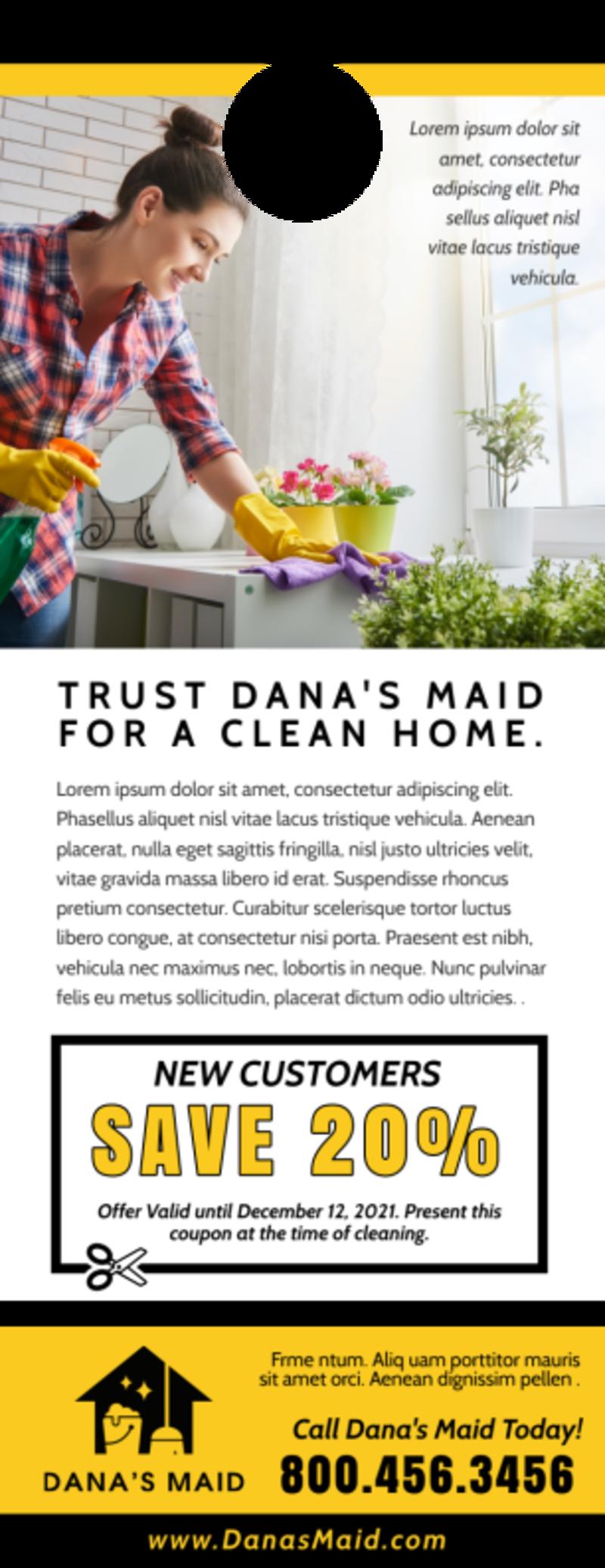 Dirty Cleaning Door Hanger Template Preview 3