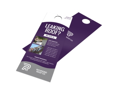 Leaking Roof Door Hanger Template preview