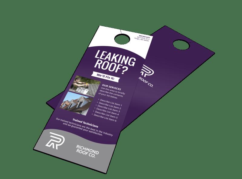 Leaking Roof Door Hanger Template Preview 1