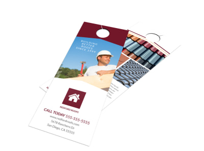 Roofing Better Door Hanger Template preview