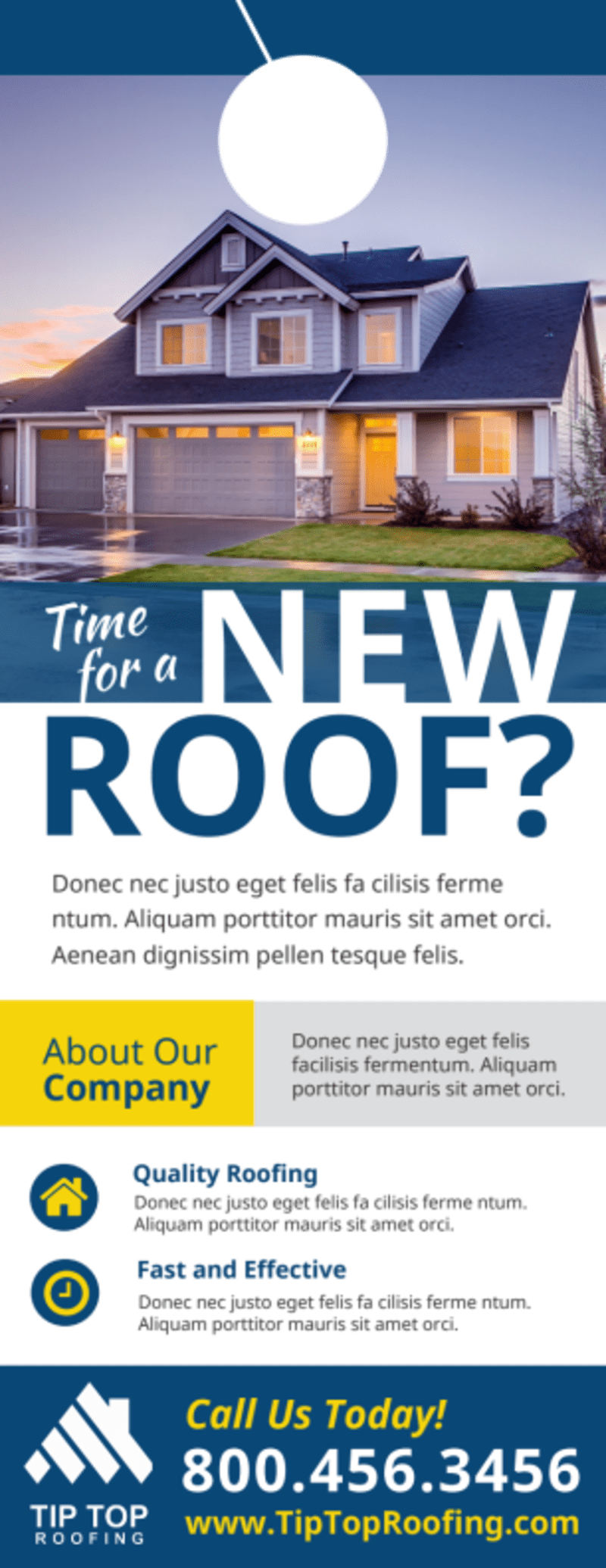 Roofing Time Door Hanger Template Preview 2