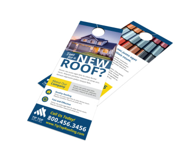 Roofing Time Door Hanger Template preview