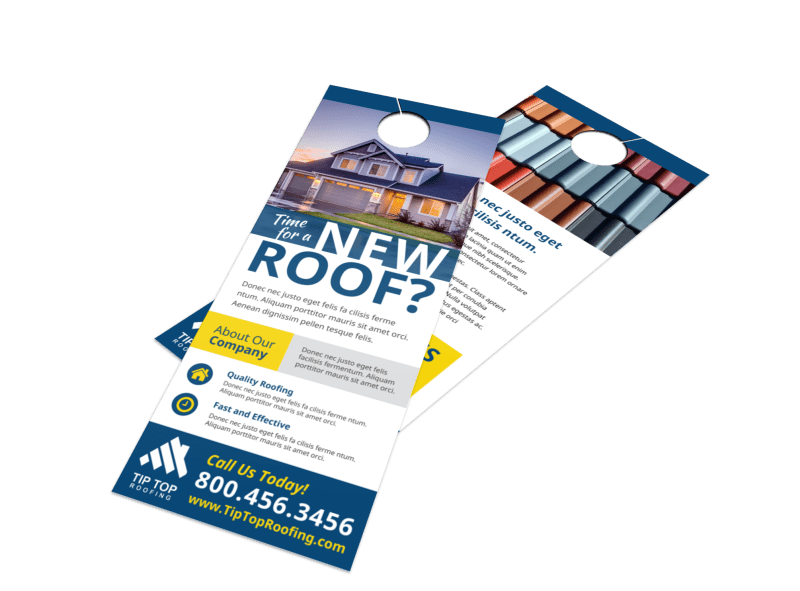 Roofing Time Door Hanger Template Preview 1