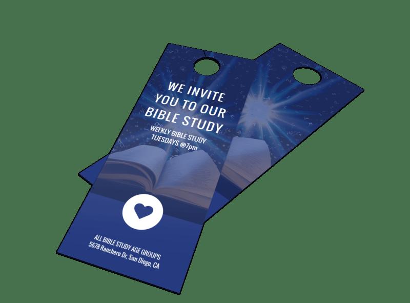 Bible Study Outreach Door Hanger Template Preview 1