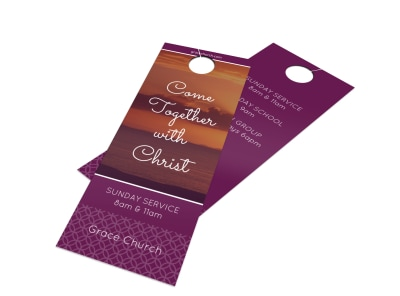 Outreach Together Door Hanger Template preview