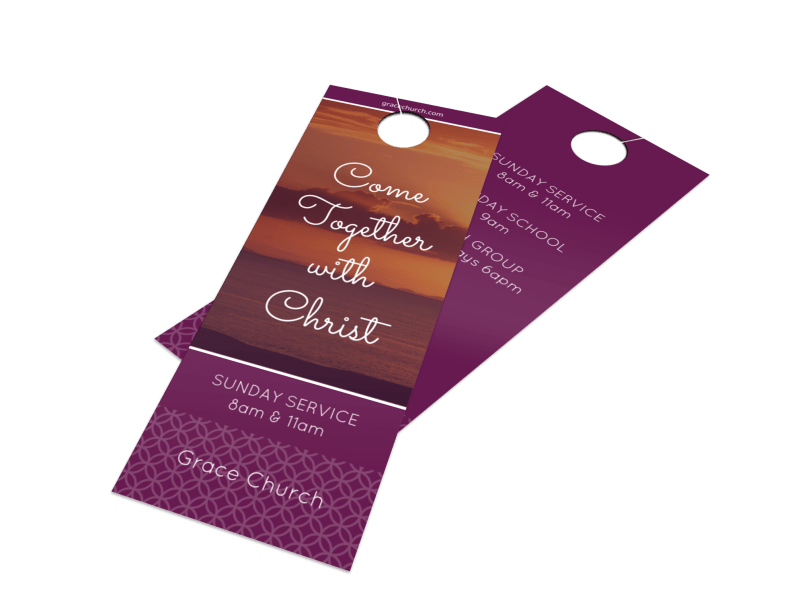 Outreach Together Door Hanger Template Preview 1