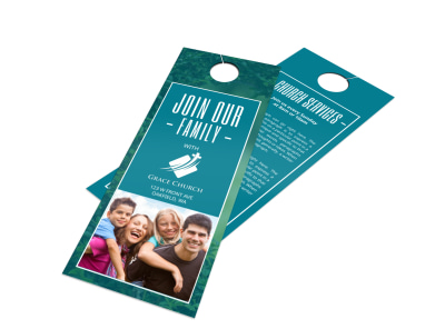 Church Family Door Hanger Template preview