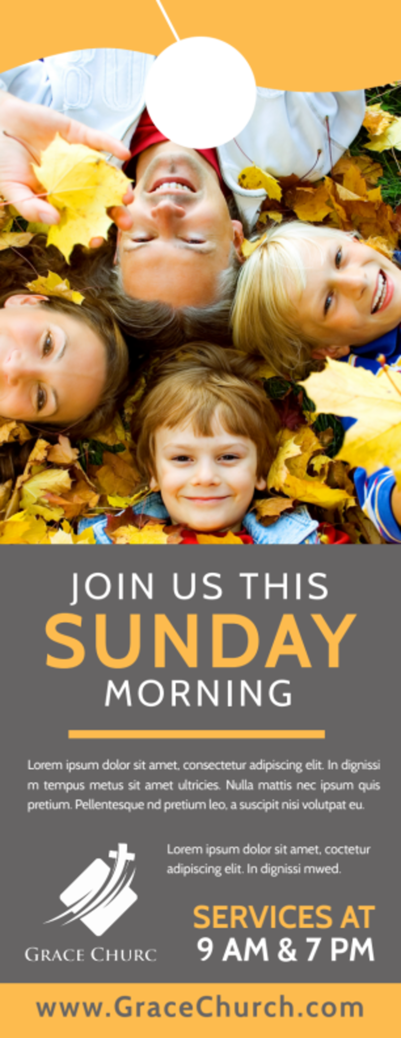 Sunday Morning Church Door Hanger Template Preview 2