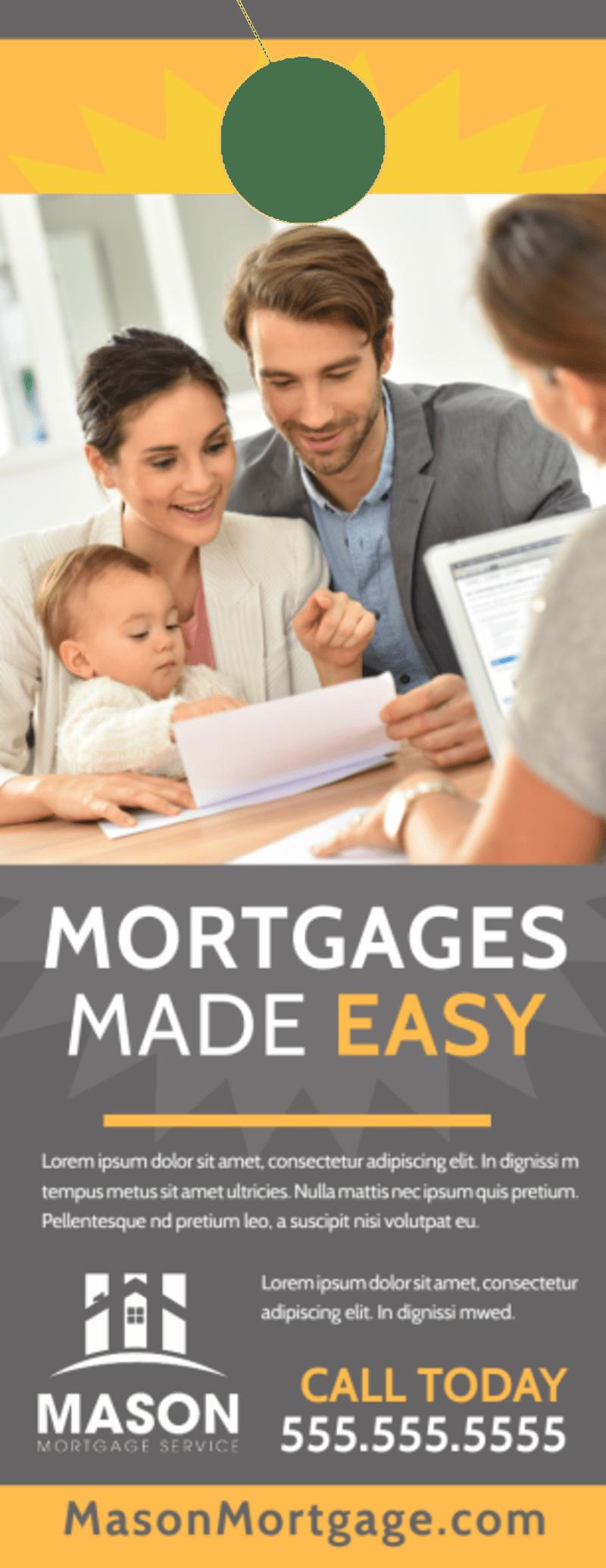 Mortgage Easy Door Hanger Template Preview 2