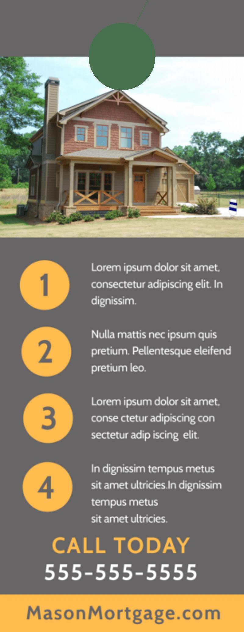 Mortgage Easy Door Hanger Template Preview 3