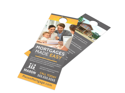 Mortgage Easy Door Hanger Template preview