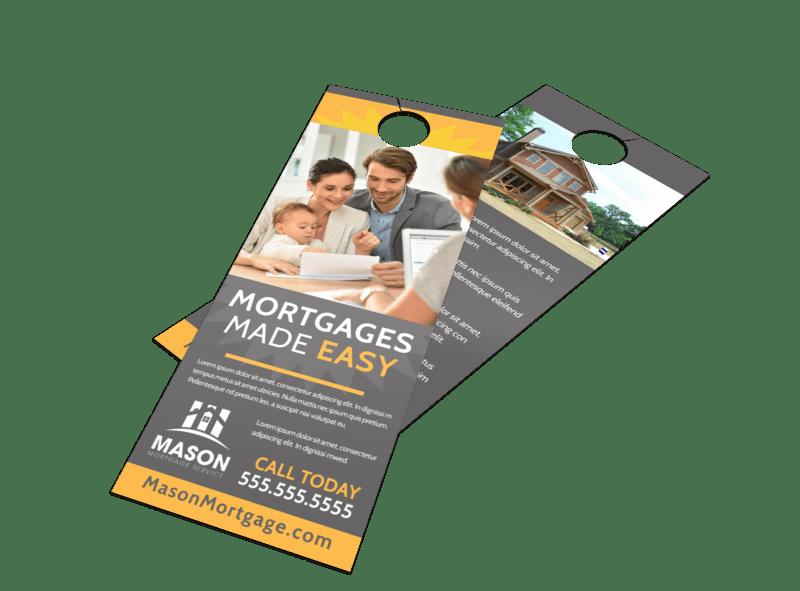 Mortgage Easy Door Hanger Template Preview 1