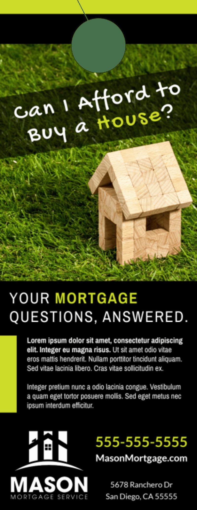 Mortgage Info Door Hanger Template Preview 2