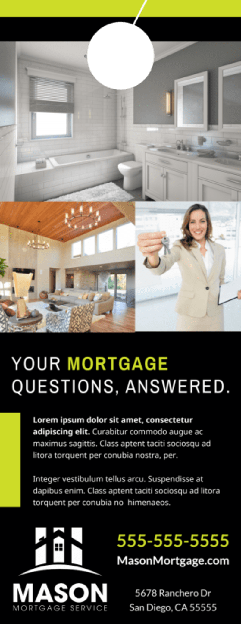 Mortgage Info Door Hanger Template Preview 3