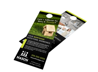 Mortgage Info Door Hanger Template preview