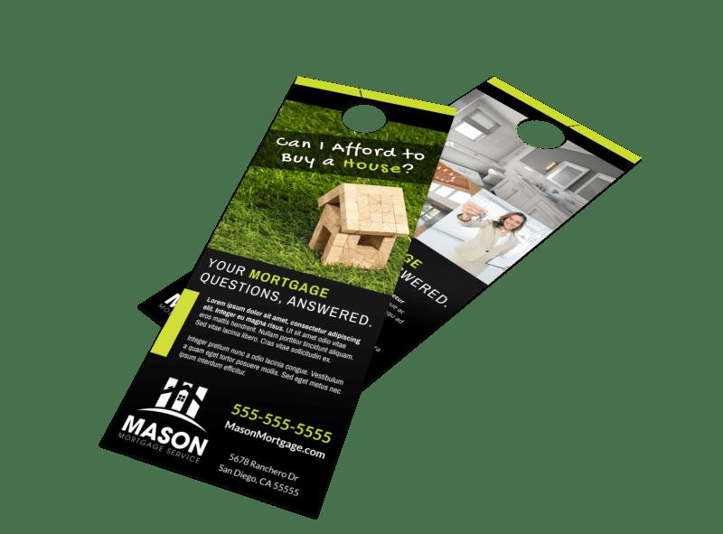 Mortgage Info Door Hanger Template Preview 1