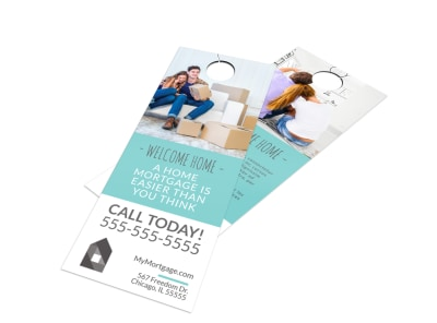 Home Mortgage Door Hanger Template preview