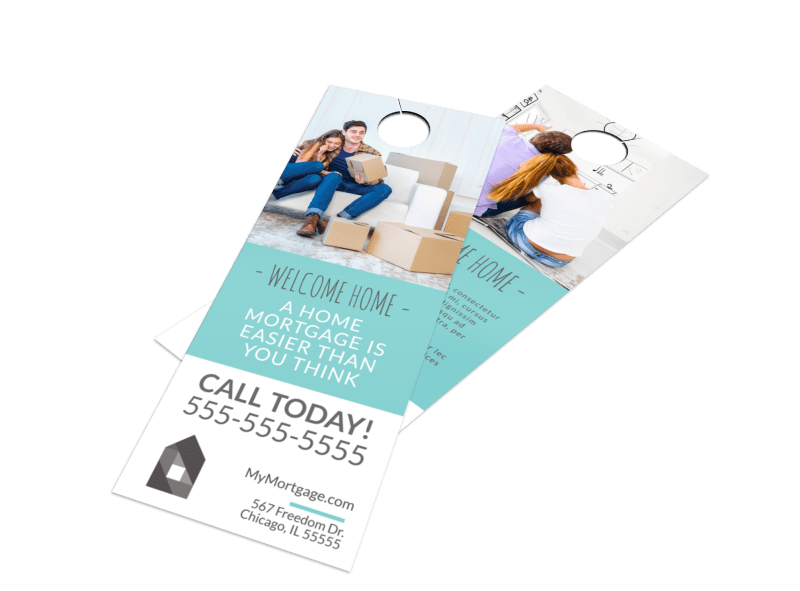 Home Mortgage Door Hanger Template Preview 1