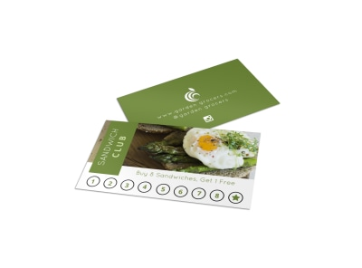 Sandwich Club Loyalty Card Template preview