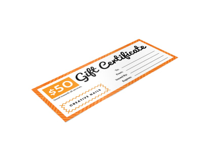 Creative Nail Gift Certificate Template preview