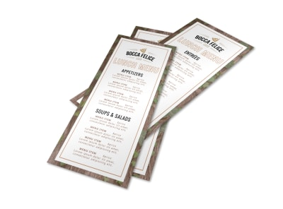 Restaurant Classic Menu Template preview