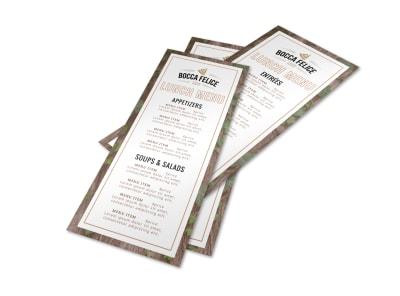 Restaurant Classic Menu Template preview