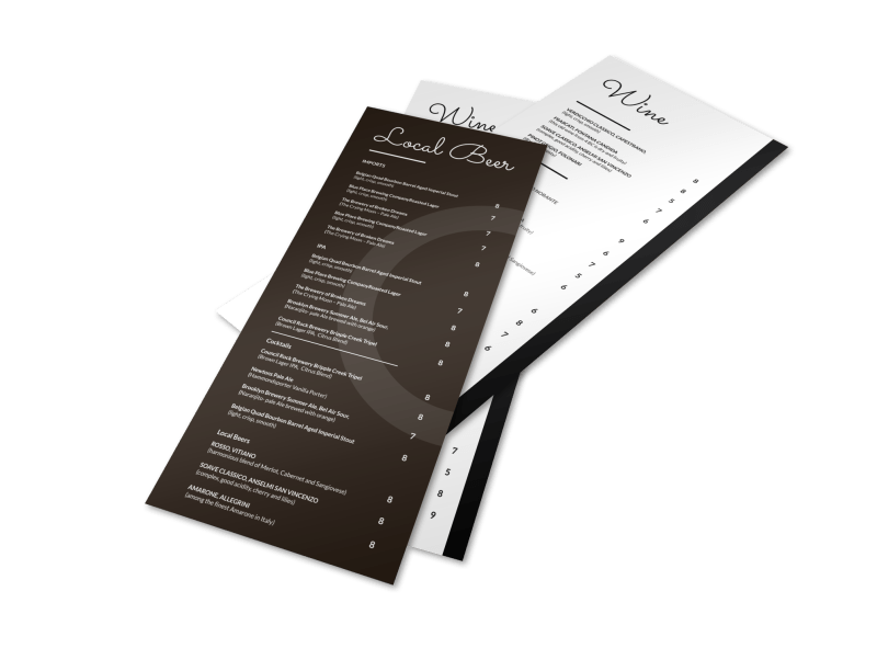 Local Drink Menu Template Preview 1