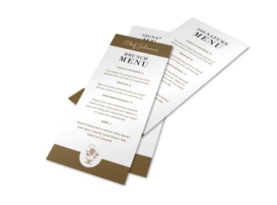 Brunch Signature Menu Template preview