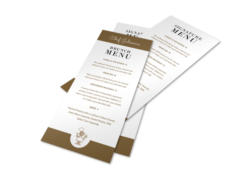 Brunch Signature Menu Template Preview 1