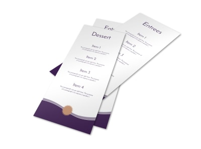 Dessert & Entree Menu Template preview