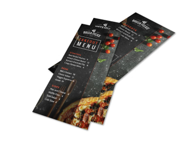 Cool Takeout Menu Template preview