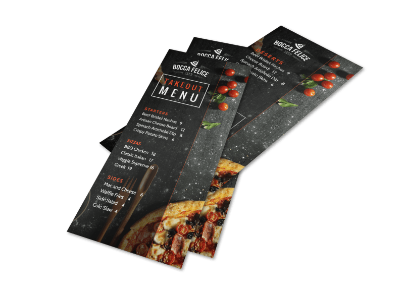 Cool Takeout Menu Template Preview 1