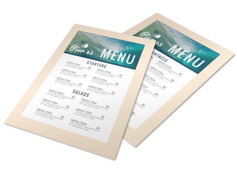 Ocean Restaurant Menu Template Preview 4