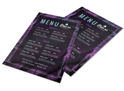 Purple Restaurant Menu Template preview
