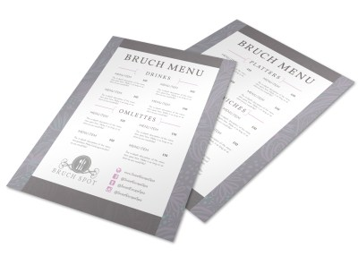 Grey Lunch Menu Template preview