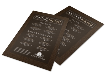 Bistro Menu Template preview