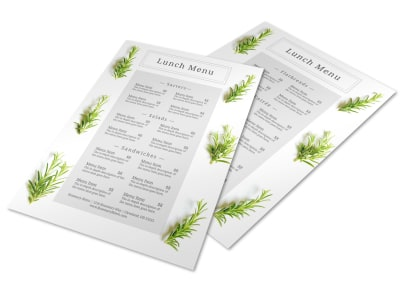 Fresh Lunch Menu Template preview