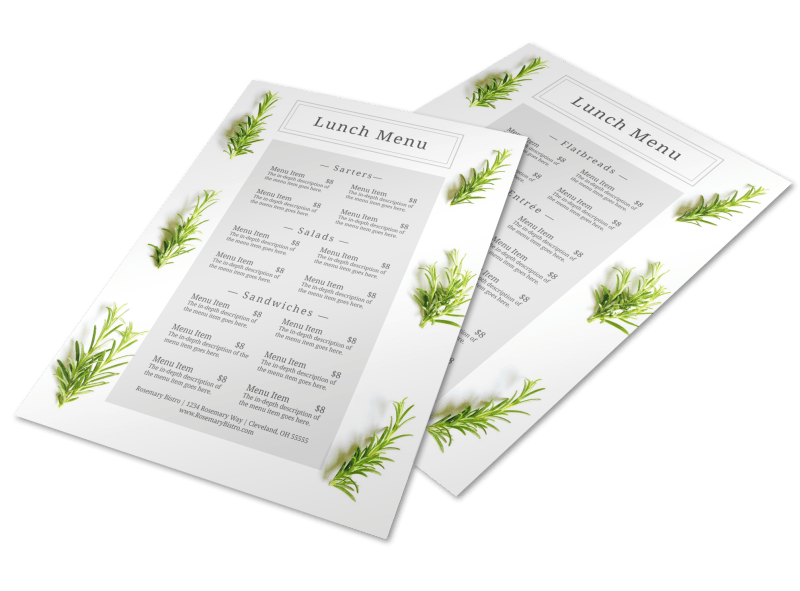 Fresh Lunch Menu Template Preview 1