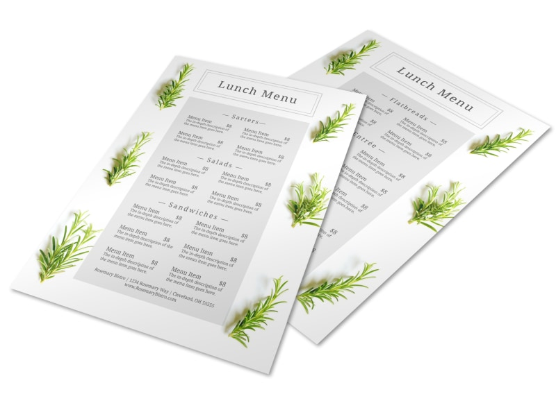 Fresh Lunch Menu Template Preview 4