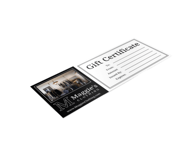 Fashion Gift Certificate Templates Template Preview