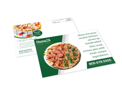 Za Pizza EDDM Postcard Template preview
