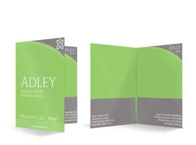 Medical Center Bi-Fold Pocket Folder Template preview
