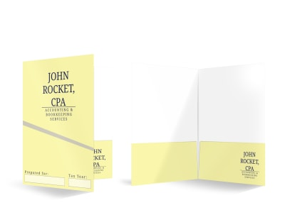 Accounting CPA Bi-Fold Pocket Folder Template  preview