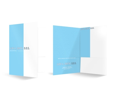 Dental Care Bi-Fold Pocket Folder Template preview