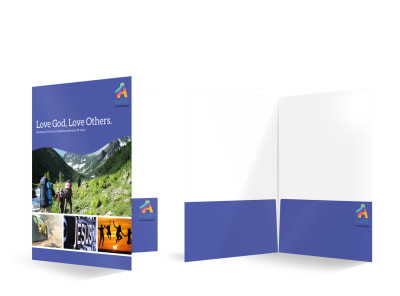 Church Youth Bi-Fold Pocket Folder Template  preview